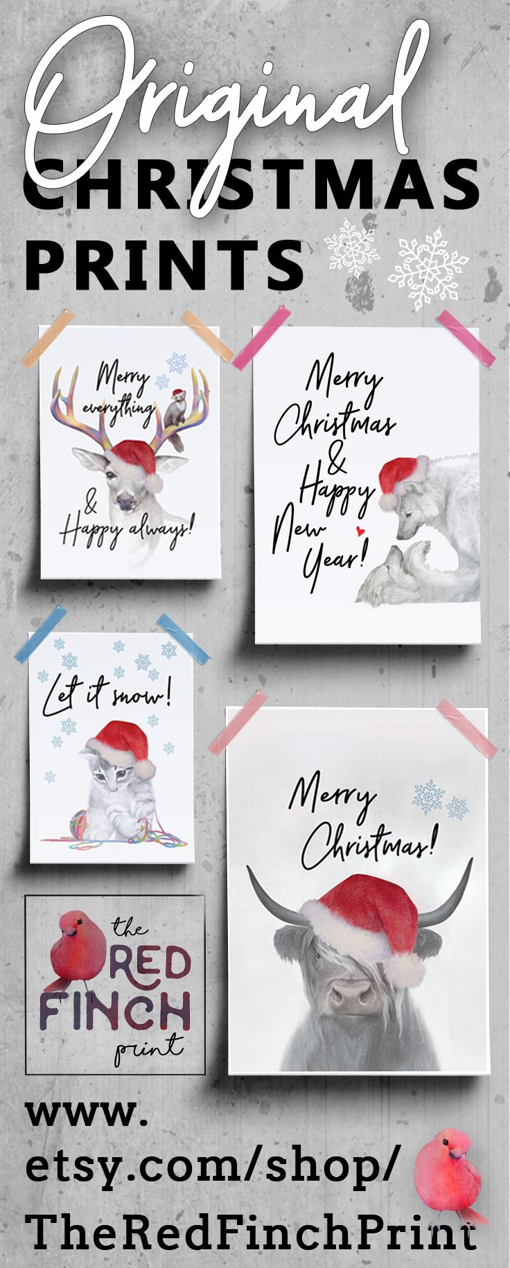 Update your home for the Holidays and make some great gifts! Check out the collection of these modern Christmas prints.