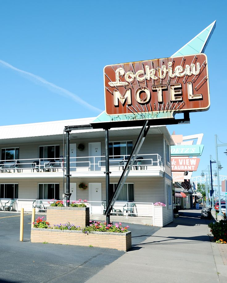 Lockview Motel In Sault Ste Marie Mi Is Located Across From The