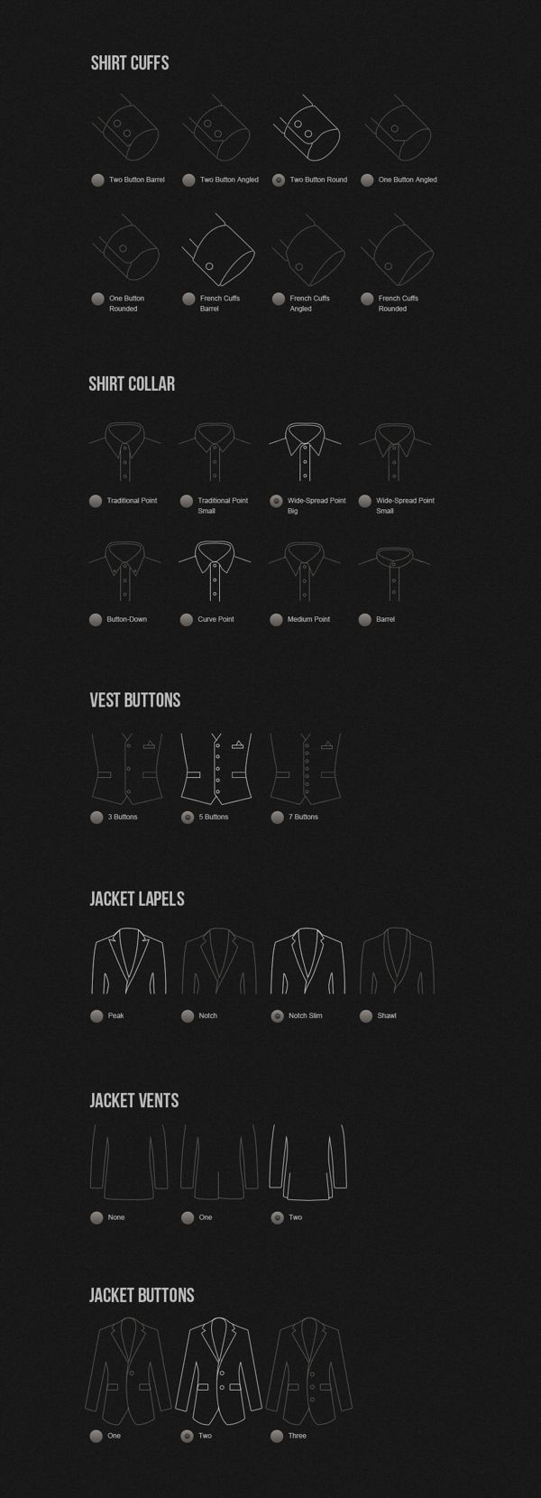 Made to Measure Suits by Alexey Masalov, via Behance