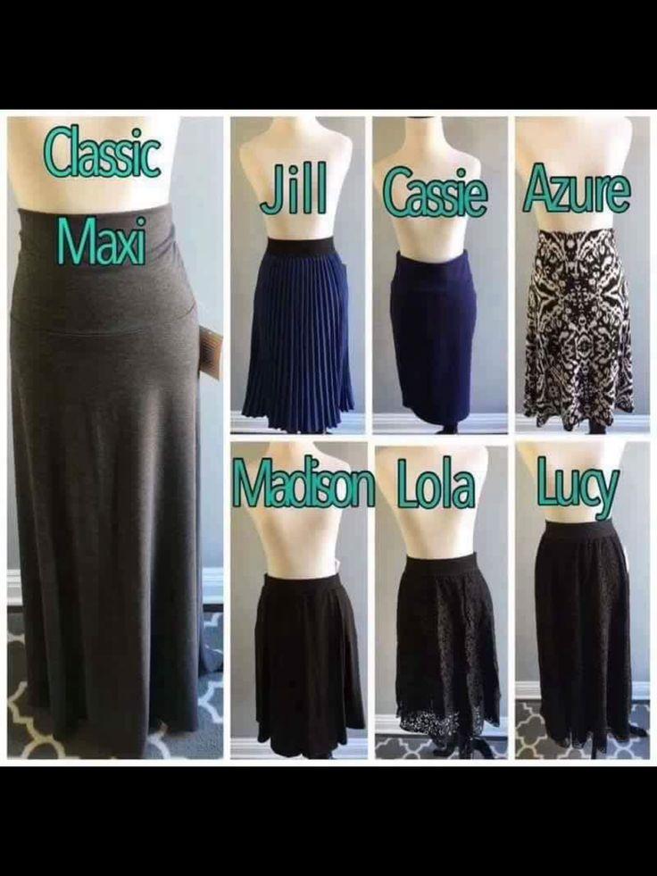 LuLaRoe skirt style guide. LuLaRoe Rachel Nicole- www ...
