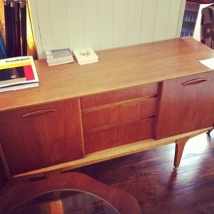 G-Plan sideboard, Coolhaus, Bedford.    Antique Owl: http://antiqueowl.wordpress.com/2012/03/10/vintage-and-charity-shop-owling-bedford-town-centre/
