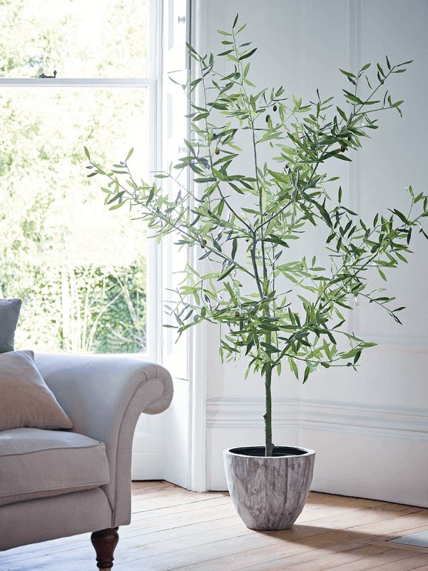 Where To Buy The Best Faux Flowers Potted Olive Tree