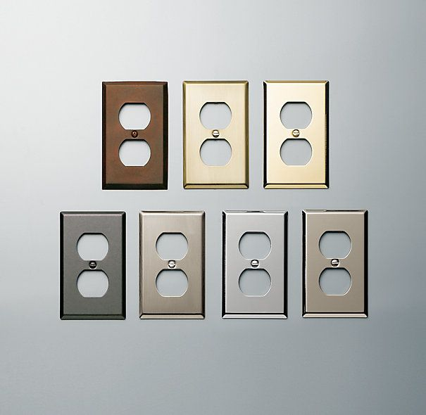 Metal Single Socket Plate | Switch & Register Hardware | Restoration Hardware