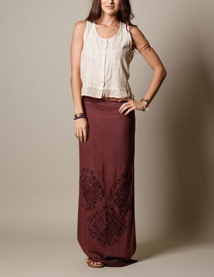 Goddess Wrap Skirt - burgundy #SivanaWishes