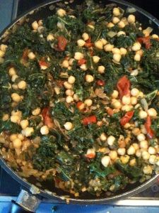 Chickpeas and Kale in a Curry