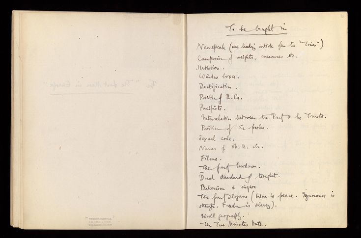 Read about 'George Orwell's notes for Nineteen Eighty-Four', on the British Library's website.