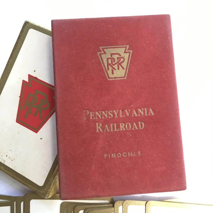 Pennsylvania Rail Road Passenger Car Playing Cards In Original Box - PRR Pinochle Cards - Vintage Playing cards - PA Railroad playing Cards by CLittleShop on Etsy