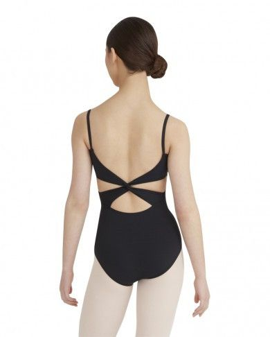- 78% Merylå¨ Nylon, 22% Spandex - Front empire seam with scooped neckline - Low back neckline with twist-back straps - Moderate leg line - Self-fabric shelf bra - Hand wash cold, hang dry Style: MC10