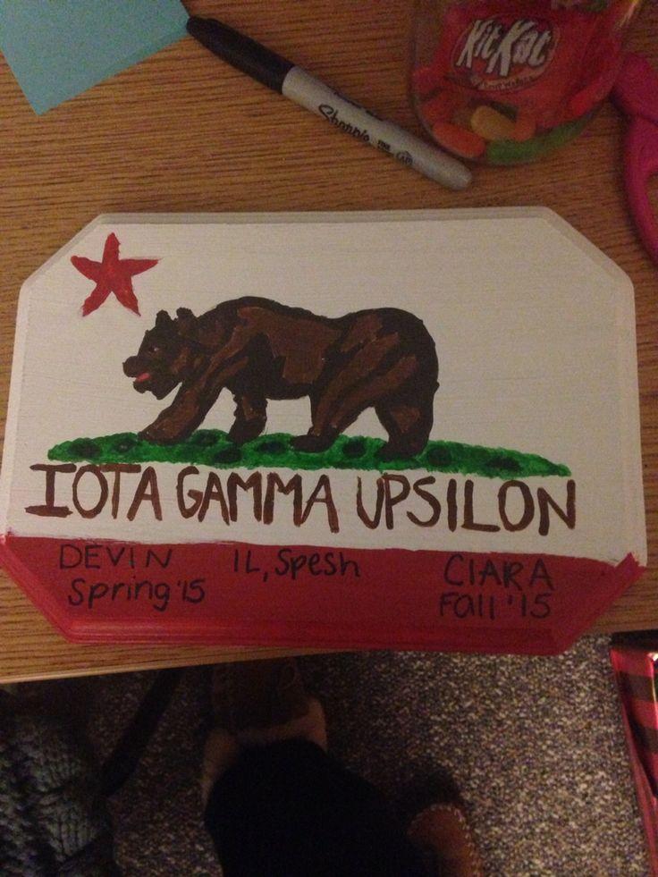 Hand Drawn Fraternity Bear Flag Bear