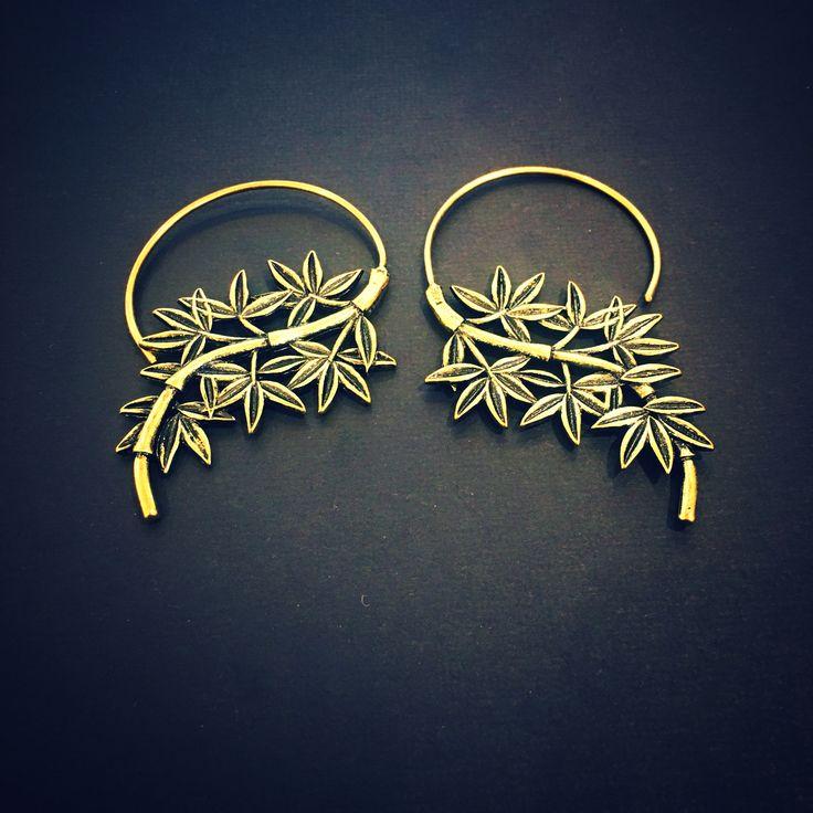 Leafy Ear Hangers from Angel Body Jewellery.