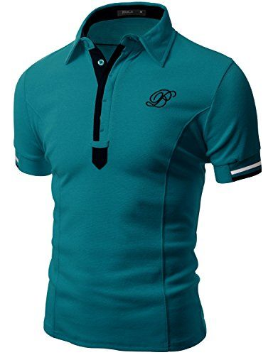 Doublju Mens Unique Casual Regular Fit Short Sleeve Polo T-shirt TEAL,S Doublju http://www.amazon.com/dp/B00WJLDH3K/ref=cm_sw_r_pi_dp_gm2Dwb1V6VAE0