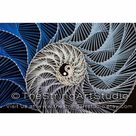 Cadena de arte Nautilus Yin Yang patrón por TheStringArtStudio
