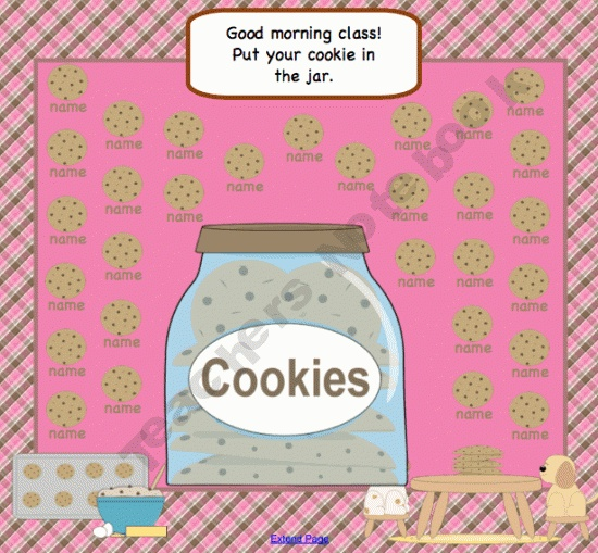 SMARTBoard Cookie Attendance for 30 Students