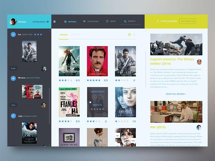 Social Movie UI by Ehsan Rahimi #dribbble #movie #ui #concept