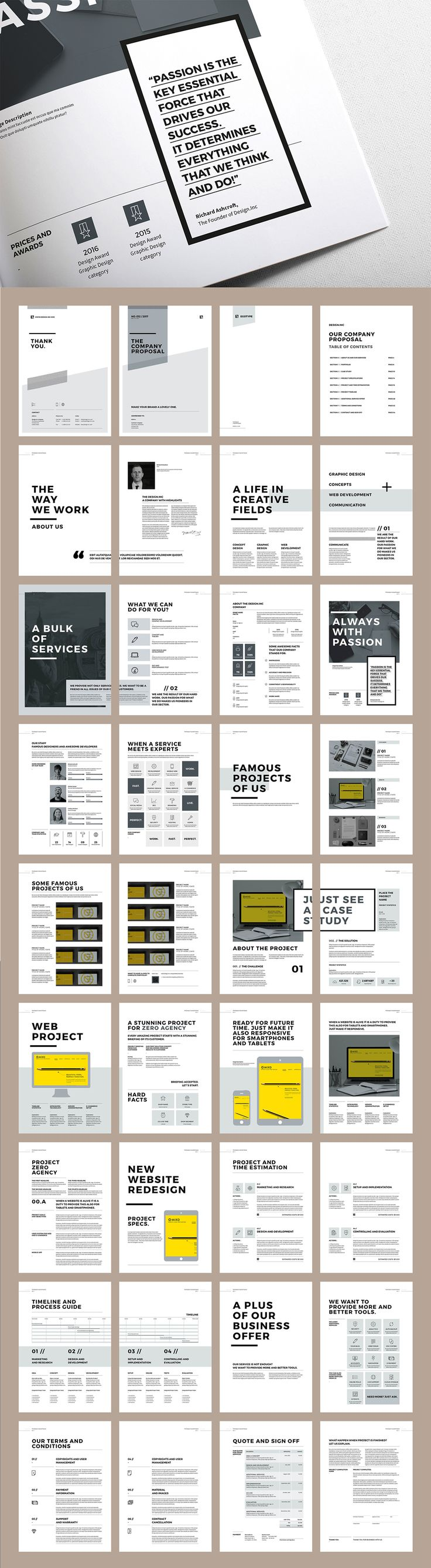 Proposal and Portfolio TemplateMinimal and Professional Proposal Brochure template for creative businesses, created in Adobe InDesign, Microsoft Word and Apple Pages in International DIN A4 and US Letter formatThis Proposal Template features: A4 …                                                                                                                                                      More