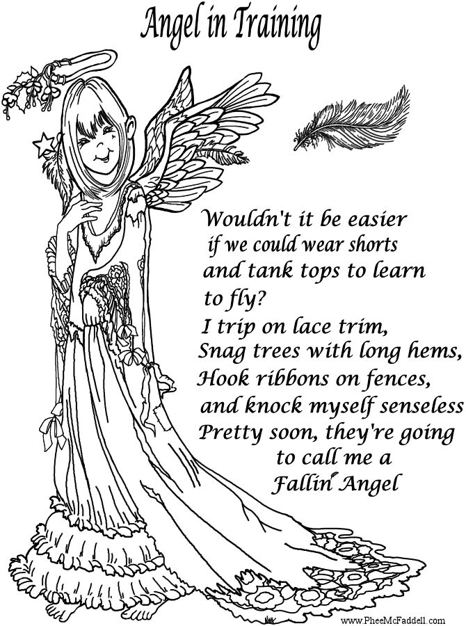 Printable Adult Coloring Page Of Angels Az Coloring