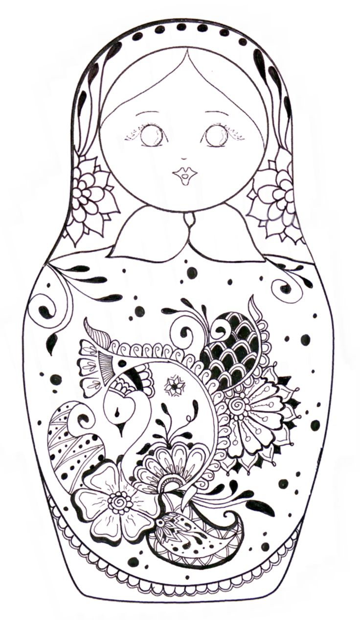 Nesting Dolls Coloring Pages