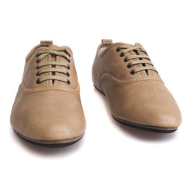 Eleganckie Polbuty Jazzowki 8312 Bezowy Dress Shoes Men Oxford Shoes Men Dress