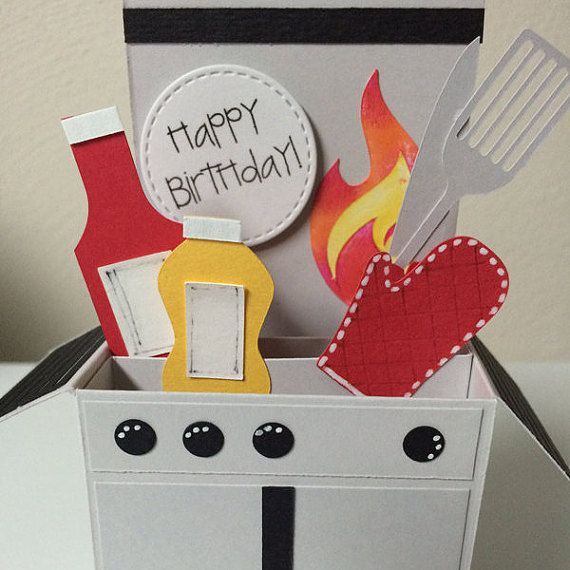 Birthday Card in a Box for grilling grilling enthusiast in your life. Your grill barbecue chef would enjoy getting this card for to wish them