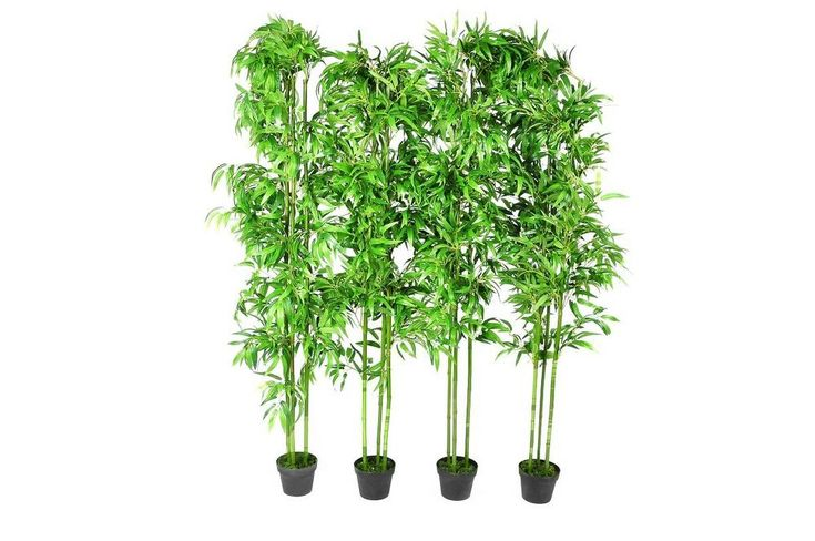 "4 pcs 75"" Bamboo Plant Artificial Arrangement Fake Silk Tree Home Decor Potted #vidaXL"