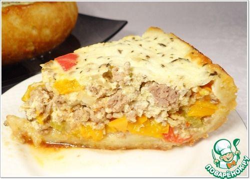 Пирог из сладкого перца и фарша - кулинарный рецепт