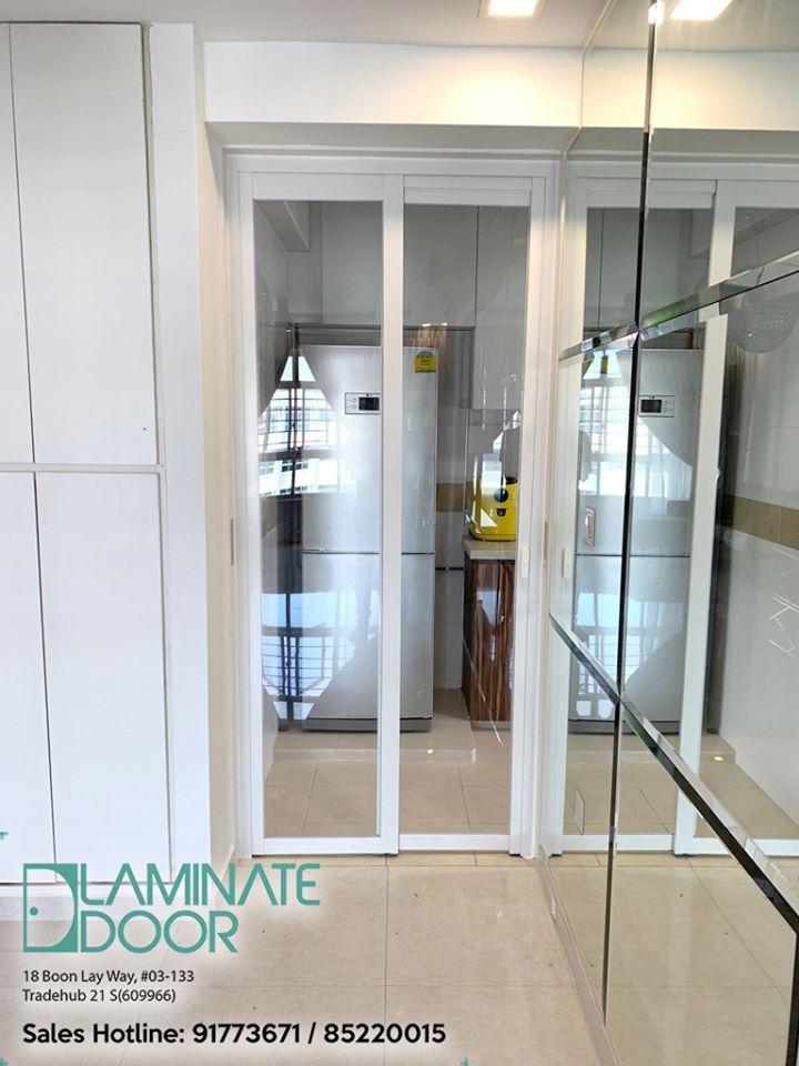 Slide Swing Kitchen Glass Door In 2020 Kitchen Glass Doors Laminate Doors Door Installation
