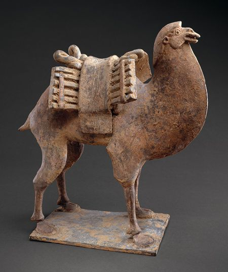 Camel, Northern Wei–Northern Qi dynasty, mid–late 6th century China Earthenware with traces of pigment
