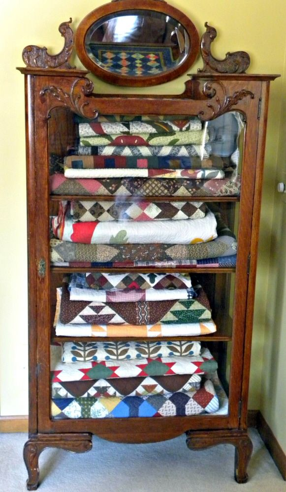 All Quilt Cabinets | option for both storage and display with an antique china cabinet ...