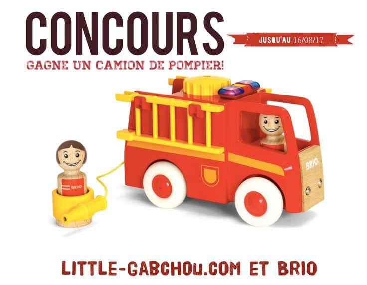 Découvre la nouvelle gamme de jouets de la marque Brio destinée au tout-petits avec ce camion de pompier son et lumière. #concours