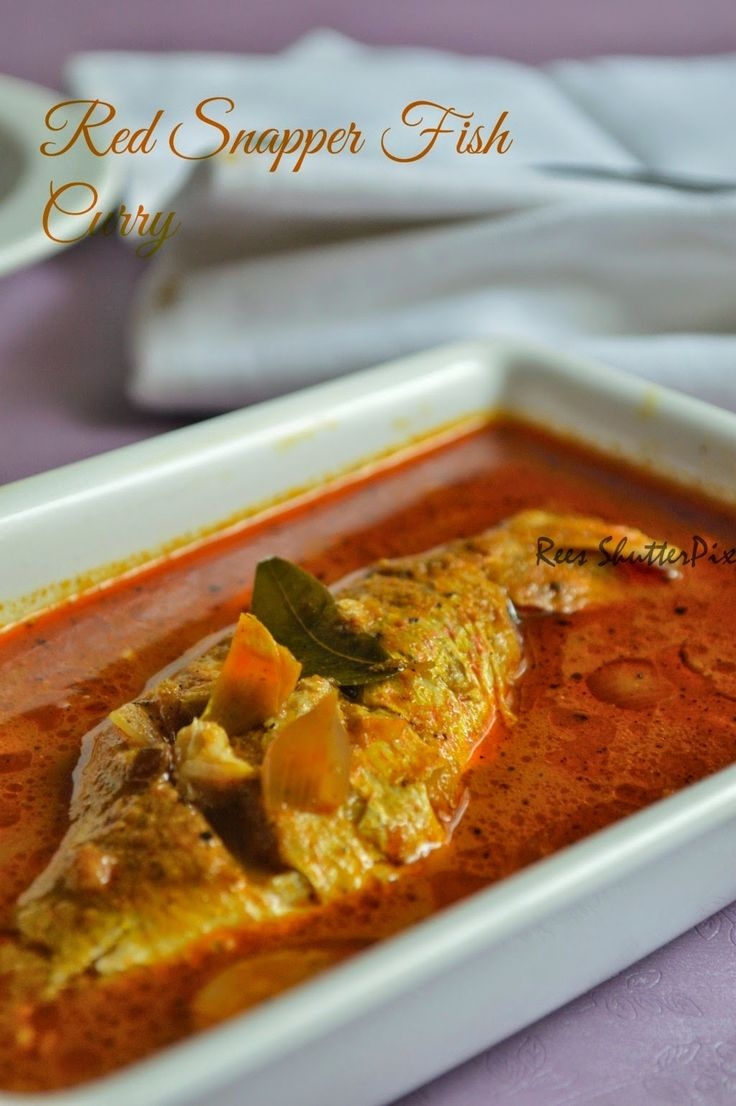 Red Snapper Fish Curry for Rice