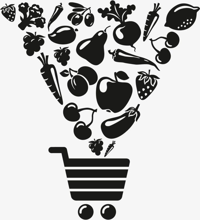 Carrinho De Compras De Frutas Legumes E Verduras Compras Verduras Frutas