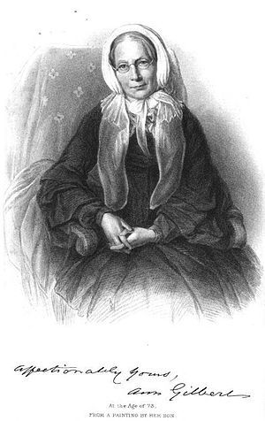 Ann Taylor (30 January 1782 - 20 December 1866) was an English poet and literary critic. Hillaire Belloc was heavily influenced by her and her sister Jane, also a poet.