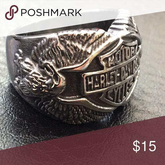 Harley Davidson ring Stainless Steel handmade Accessories Jewelry