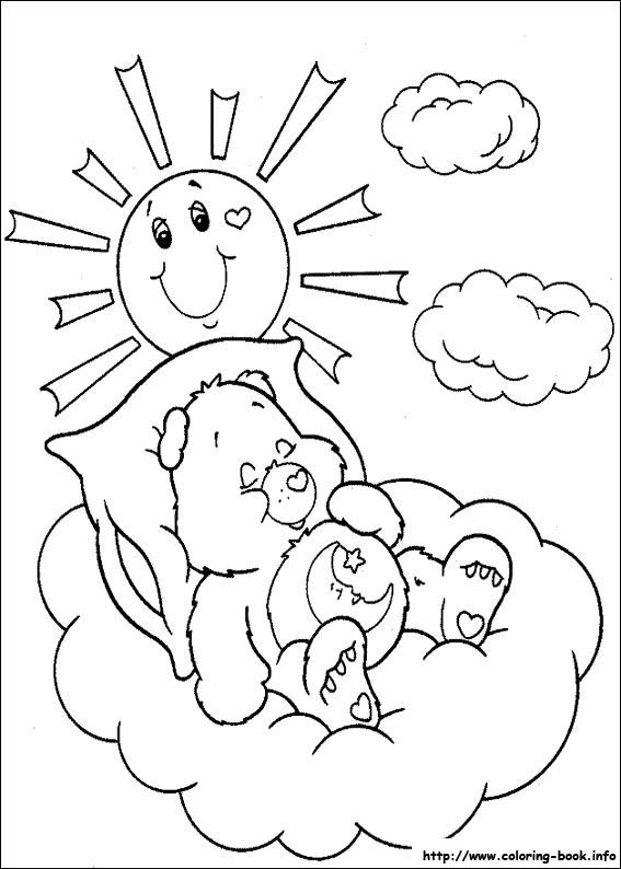 care bears 35 coloring page for kids and adults from cartoons coloring pages the care bears coloring pages - Coloring Pages Coloring Book Info