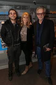Actors Trevor Eve and Sharon Maughan with their youngest son, musician George Eve. (2010s)