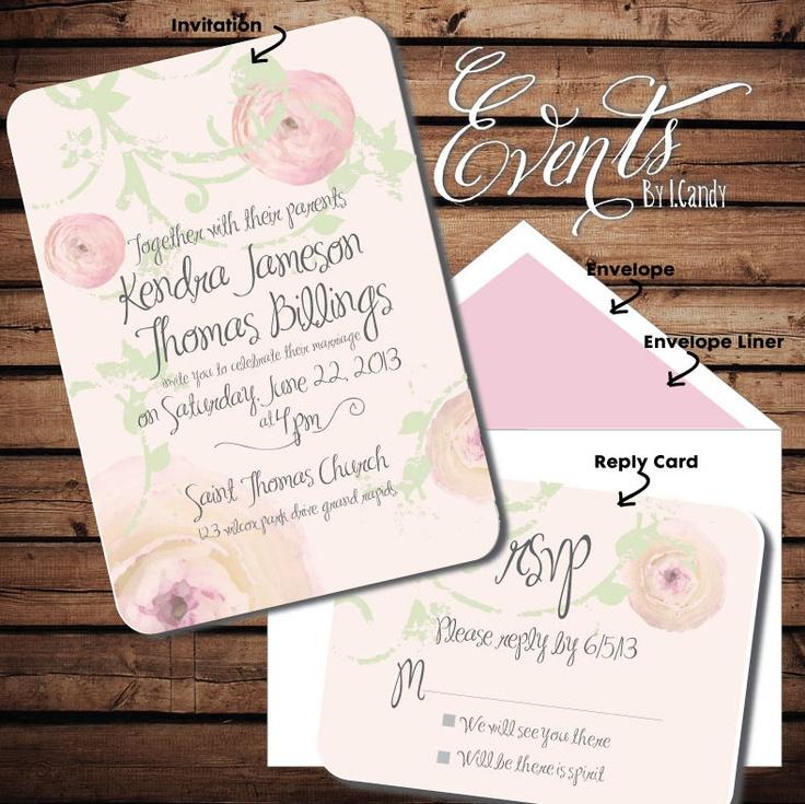 handwrite or print wedding invitation envelopes%0A Printed Sample for   Dollars or Sets of    Custom Printed Peony Ranunculus  blush pink wedding fans with grey script