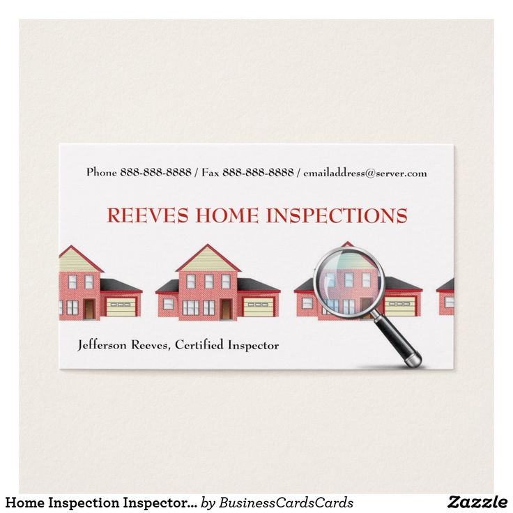 22 best Home Inspection Business Cards images on Pinterest ...