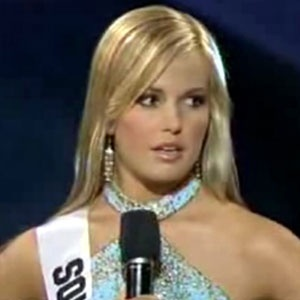 Caitlin Upton (also Caite Upton) was Miss South Carolina Teen USA and competed in the 2007 Miss Teen USA pageant where she famously flubbed her geography related question and the clip went viral on youtube.  She competed in The Amazing Race 16 with her boyfriend and they placed 3rd.