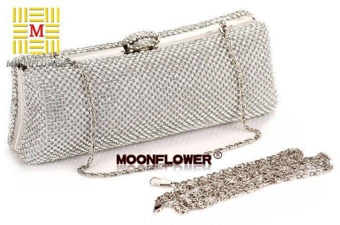 Super Punk Style Luxury Shinning Full Diamond Women's Dinner Clutch Bag Evening Bag fashion Female Wristlet Bag NO1235 US $32.62