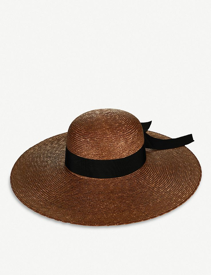 FEDERICA MORETTI Bai woven straw sun hat