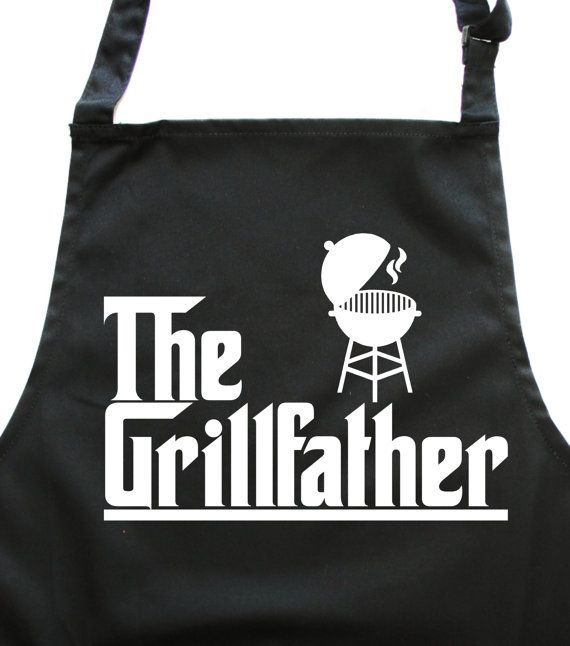 The Grill Father. Kitchen Cooking & Bbq apron by EdwardSinclair