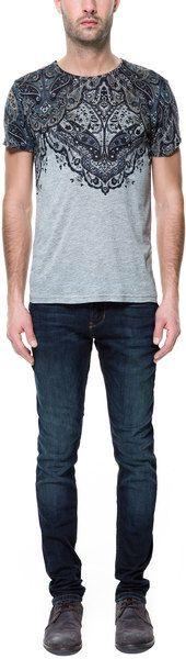 Jeans with Slanted Pocket - Zara