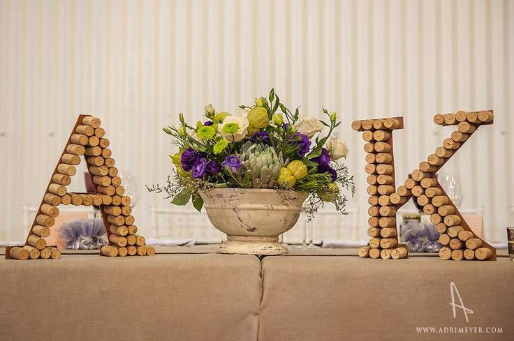 Letters made of corks