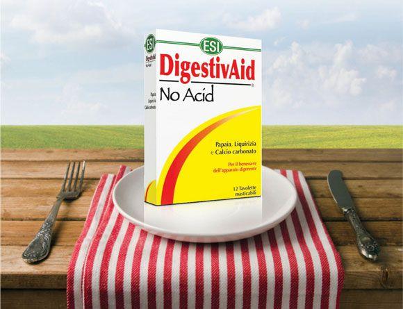 ESI Digestiv Aid - No Acid lúgosító-savlekötő tabletta