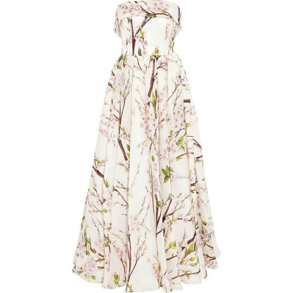 c942c678f21c Dolce & Gabbana Almond blossom-print silk-organza gown (11.005 VEF) ❤ liked  on Polyvore featuring dresses, gowns, dolce & gabbana,…