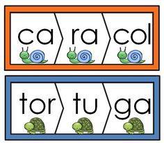 Palabras de tres silabas: 100 rompecabezas para practicar  lectura y vocabulario. Fun activities for bilingual and dual language classrooms.