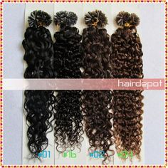Wholesale 2-3-pcs 20& Curly Fusion Hair Extensions Human dark colors 0.5g/s Nail U tip Hair Extensions Keratin AAAA Grade free ChinaPost, Free shipping, $26.34/Piece   DHgate Mobile