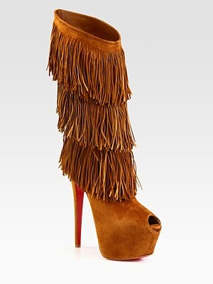 Christian Louboutin Highness Tina Suede Fringe Knee-High Boots « eStyleMe