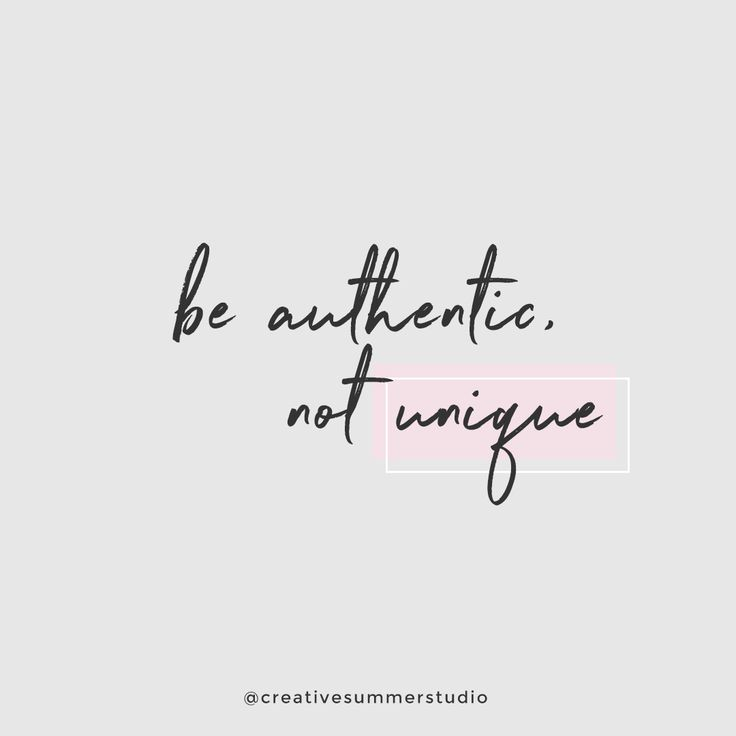 "Be authentic, not unique. Learn to trust yourself and to express your creativity. Click here to read more ideas about the book ""Big magic"" by Elizabeth Gilbert. Quotes, inspirational quotes, motivational quotes, discipline quotes, goals, goals quotes, motivation, discipline, creativity quotes."