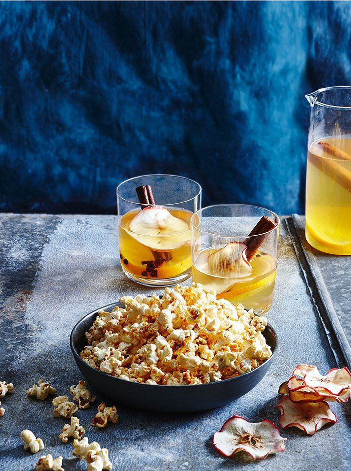Whether you're looking to entertain or just searching for a quick and easy snack that will satisfy you on the cooler nights, look no further than this deliciously warming cocktail, with spiced popcorn. This is the ultimate crowd pleasure, or treat for two.
